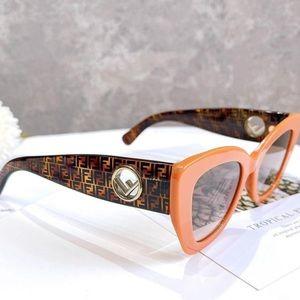NEW FENDI FF LOGO HAVANA BUTTERFLY CAT ORANGE SUNGLASSES 0327/S RARE $595 WOMEN